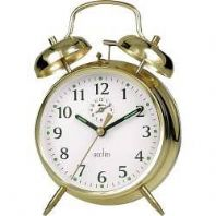 Acctim Saxon Bell Alarm Clock - Brass